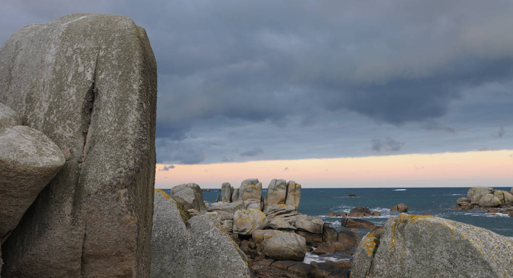 Photo de rochers dans la baie de Brignogan