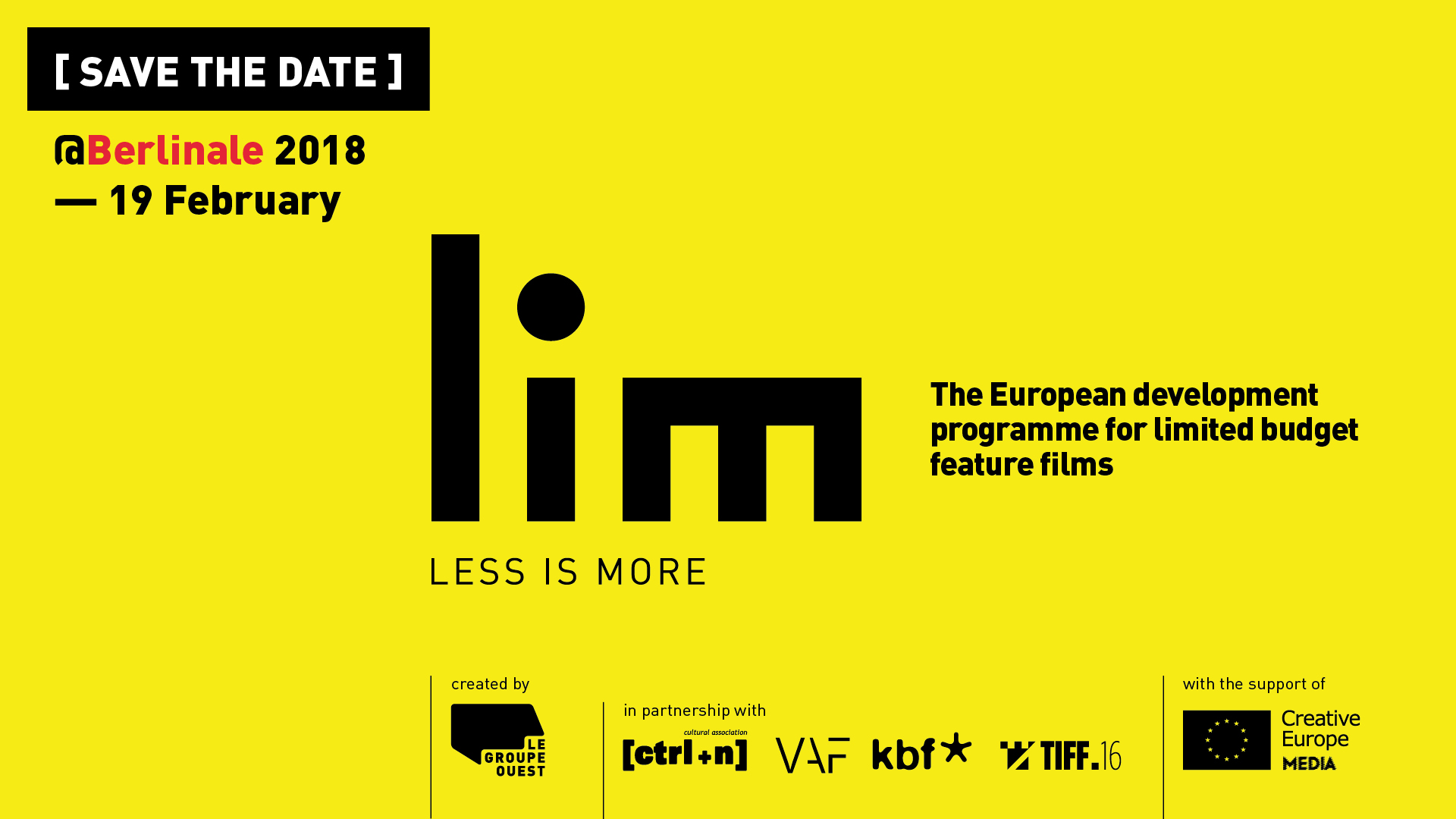 Berlinale   LIM, Save the date