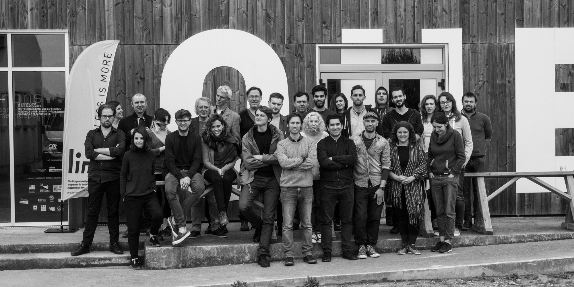 Group photo of LIM during workshop 3 in Le Groupe Ouest,Brittany